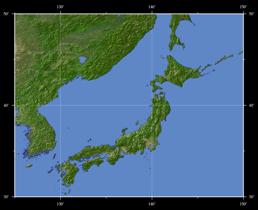 Views of the Earth - Map based browsing Japan