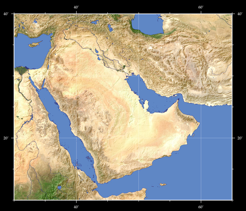 Views of the Earth   Map based browsing Middle East