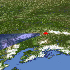 Mount McKinley location map