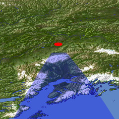 Southern Alaska location map