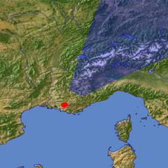 The southwestern Alps location map
