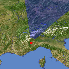 The western Alps 2 location map
