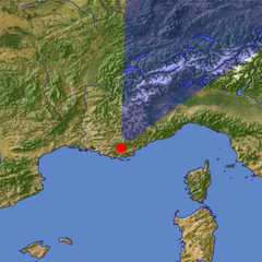 The Maritime Alps location map