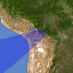 Andes 1 location map