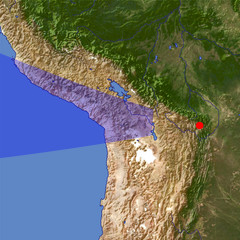 Andes 3 location map