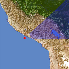 Colca Canyon location map