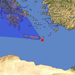 Central Crete location map