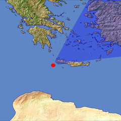 Western Crete location map