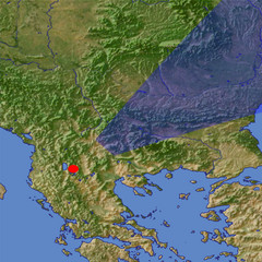 The Balkan Mountains location map