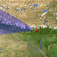 The Himalaya in Nepal location map