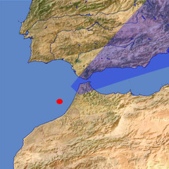 The Strait of Gibraltar location map