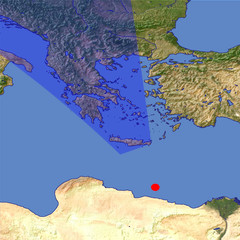 Greece 1 location map
