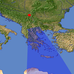 Greece 2 location map