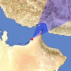 The Strait of Hormuz 2 location map