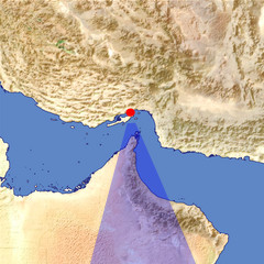 The Musandam Peninsula location map