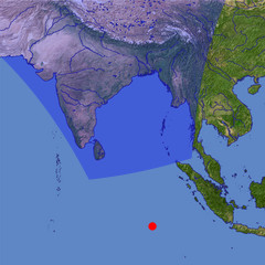 Bay of Bengal location map