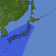 The Japanese Islands location map