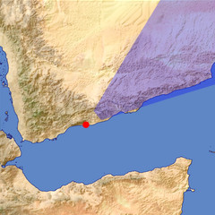 Southern Yemen 3 location map