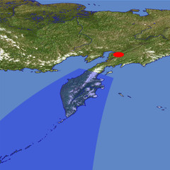 The Kamchatka Peninsula in Winter location map
