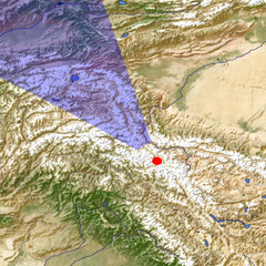 The Khunjerab Pass location map