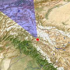 The Karakoram from south location map