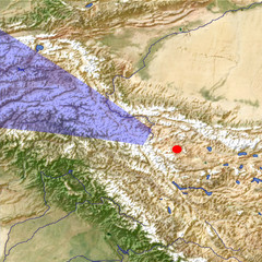 The western Karakoram Mountains location map