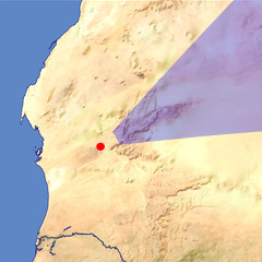 The Adrar Plateau location map