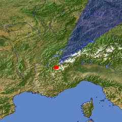 Mont Blanc location map