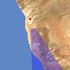 The Namib Desert location map