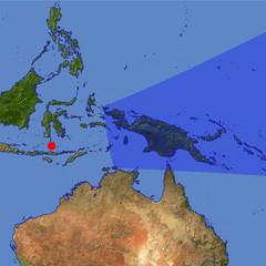 New Guinea location map