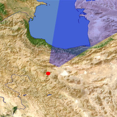 Northern Iran location map
