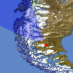 The Southern Patagonian Ice Field location map