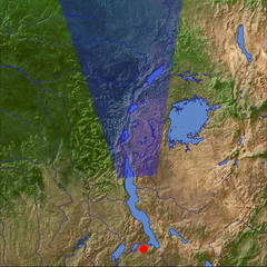 The Western Rift Valley in January location map
