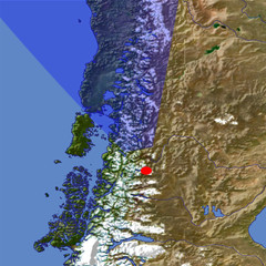 The Southern Andes Mountains location map