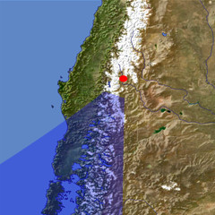 The Southern Andes Mountains 2 location map