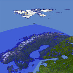 The Scandinavian Peninsula location map