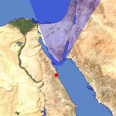 The Sinai Peninsula location map