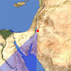 The Wadi Araba location map