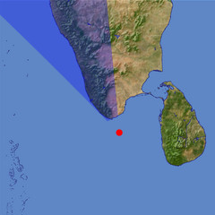 Kanyakumari/Cape Comorin location map