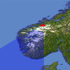 The Sognefjord and Jotunheimen location map