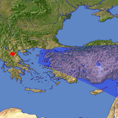 Western Turkey location map