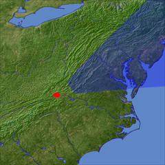 The Shenandoah Valley location map