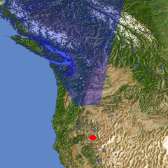 The Cascade Range location map
