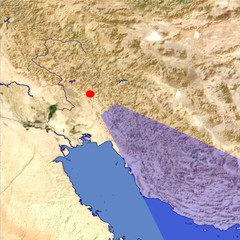 The Zagros Mountains location map