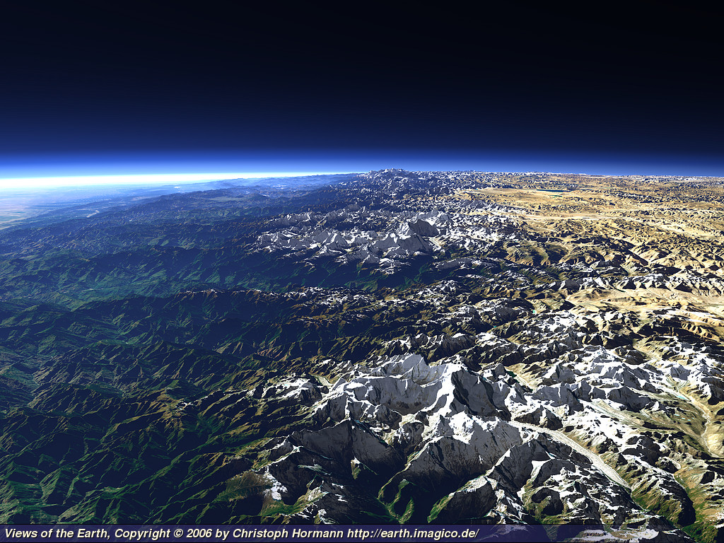 Views of the Earth - The Himalaya in Nepal
