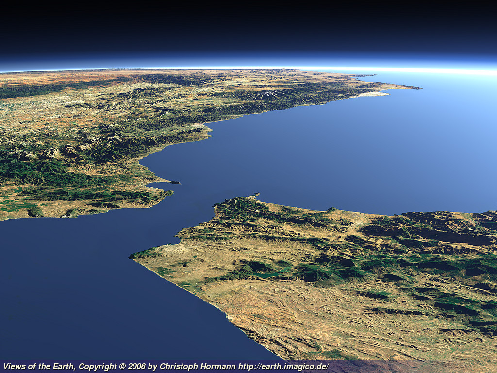 Views Of The Earth The Strait Of Gibraltar