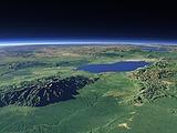 The Rwenzori Mountains and Lake Edward