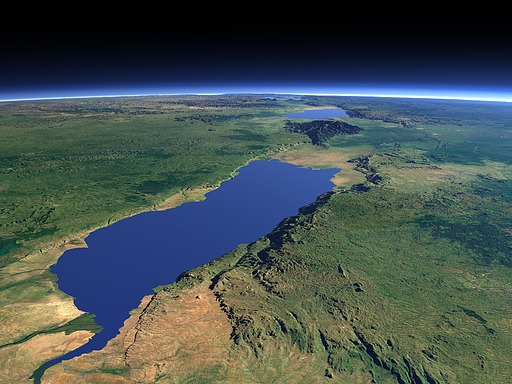 Lake Albert and the Albertine Rift from north
